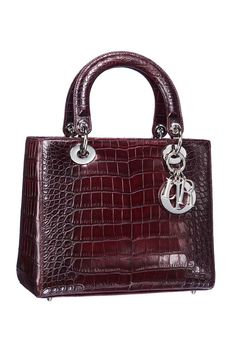 The Lady Dior bag in gradient crocodile.