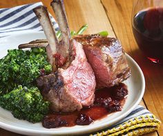Sour Cherry Gastrique Rack of Lamb by Spoon Fork Bacon. Yum yum yum. http://www.chefd.com/collections/all/products/sour-cherry-gastrique-rack-of-lamb