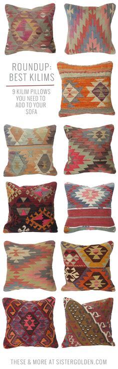Add bohemian style to your space with affordable kilim pillows. Shop these styles plus more!