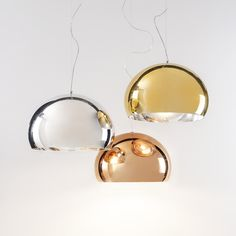Kartell FL/Y metal suspension lamp. Available to buy from connectionsathome.co.uk