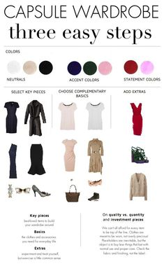 How to Build a Minimalist Capsule Wardrobe In Three Steps by MARIANFULTON