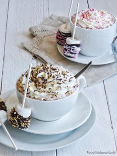 Non Alcoholic Drinks, Chocolate Coffee, Party Drinks, Coffee Time, Cocoa, Food And Drink, Sweets, Breakfast, Desserts