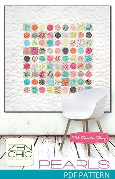 Pearls Downloadable PDF Quilt Pattern Zen Chic - Quilt Patterns | Fat Quarter Shop
