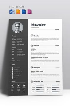 Use new Minimal Creative CV Resume Template. It will help you to obtain a job of Use new Minimal Creative CV Resume Template. It will help you to obtain a job of your dream. Resume Design Template, Business Plan Template, Creative Resume Templates, Simple Resume Template, Free Cv Template, Modern Cv Template, Resume Cv, Basic Resume, Professional Resume