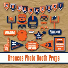 Printable Denver Broncos Photo Booth Props and Party by OldMarket, $4.00