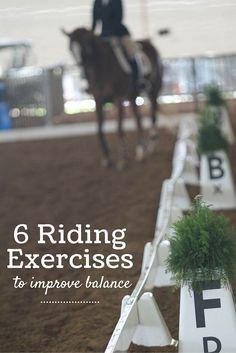 AQHA: Six horseback riding exercises for equestrians to help improve strength, rhythm and balance.