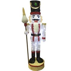 Holiday Living 64-in Lighted Nutcracker Outdoor Christmas Decoration | Lowe's Canada