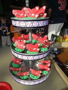 Red Sox cupcakes