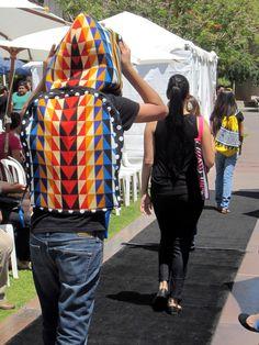 Painted Warrior Designs hooded backpack by Kevin Duncan (San Carlos Apache / Arikara / Hidatsa / Mandan) -