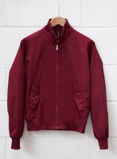 Men's Burgundy Harrington Jacket