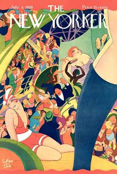 Eugene Gise throws a beach party on the July 3, 1926 cover of The New Yorker