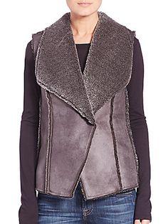 Design History Teddy Faux-Fur Vest #DesignHistory #FallVest