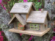 Rustic Cedar Duplex Birdhouse by SwampwoodCreations on Etsy, $85.00