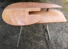 Vintage Solid Wood Folding Sewing Table