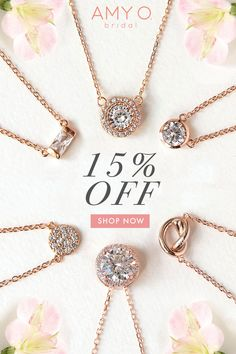 Pink Horseshoe LUCK Crystal Pendant Charm Gold Tone Chain Necklace Bridal Party