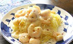 Light Shrimp Alfredo Spaghetti Squash – Simply Taralynn