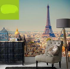 Paris style blow up poster als behang tegen de muur