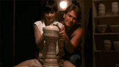 """Channel your inner Demi Moore and Patrick Swayze from """"Ghost"""" at Mira Studio, Tel Aviv! Patrick Swayze, Tony Goldwyn, Images Gif, Im Jealous, Compilation Videos, I Still Love Him, Photoshop, Demi Moore, Internet"""