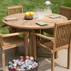 Teak Outdoor Round Dining Table