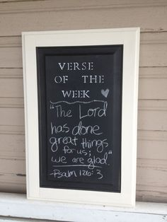Verse of the Week /// chalkboard by betsys wood