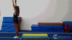 22 drills to help you master the standing back handspring in the fastest and most efficient manner without mental blocks! Gymnastics Lessons, Boys Gymnastics, Tumbling Gymnastics, Gymnastics Coaching, Back Handspring Drills, Flick Flack, Acro, Fitness Diet, Cheerleading