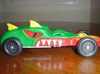 Dragon head pinewood derby car