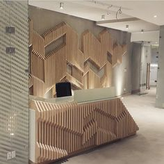 Our modern take for office entrance - parametric use on wood #concrete #parametric #wood keep  #aresarchitecture #art #fuarstandı #tasarim #decoration #colors #design #igers #modernarchitecture #interiordecoration #standtasarımı #interiorarchitecture #artinterior  #interiordesign #detail #architecturelove #tagsforlikes #likeforlike #luxury #interior #içmimarlik #architect #picoftheday #architecture #instagram #Cairo #cairoscenefeature by studio06