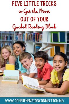 Check out these five tricks to making the most of your guided reading block. These helpful reminders will keep things running like a well oiled machine.