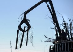 Cleanup from Sunday's severe weather in Scott County begins Monday, Nov. 18, 2013.