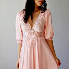 victorian PRINCESS dress /  pink 1970s OPEN by vintagemarmalade