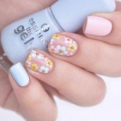 Here's the best 20 Easter nail designs created by you, the super talented SoNailicious family! From Negative Space Easter Egg nails to Neo Easter manicure. Easter Nail Designs, Easter Nail Art, Flower Nail Designs, Nail Designs Spring, Nail Art Designs, Nails Design, Diy Nails, Cute Nails, Pretty Nails