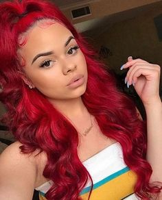 Red Wigs Lace Frontal Wigs Black To Red Ombre Honey Blonde Full Lace Wigs Human Hair Black Wigs With Blonde Highlights Best Red Hair Ruby Red Hair Dye My Hairstyle, Wig Hairstyles, Makeup Hairstyle, Hairstyle Ideas, Black Girls Hairstyles, Pretty Hairstyles, Cute Weave Hairstyles, Childrens Hairstyles, Red Lace Front Wig