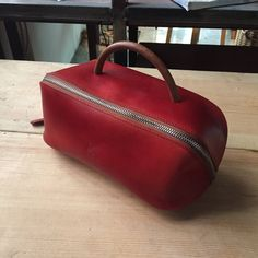 Toiletry Bag Traveller Dopp Kit Handmade Vegetable Tanned