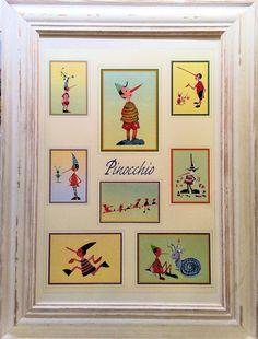 Poster Pinocchio con cornice - Stampe con cornice di Massimo Pantani, Pantani Arte San Gimignano (Siena)
