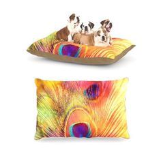 """Kess InHouse Sylvia Cook """"Peacock Feather"""" Fleece Dog Bed, 30 by 40-Inch - http://petproduct.reviewsbrand.com/kess-inhouse-sylvia-cook-peacock-feather-fleece-dog-bed-30-by-40-inch.html"""