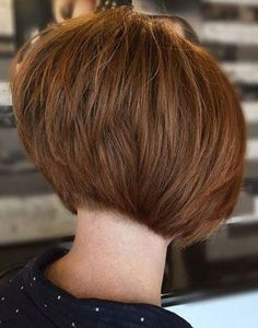 20 chic and best layered bob hairstyles - Long Bob Hairstyles 2019 Short Layered Bob Haircuts, Layered Bob Hairstyles, Hairstyles Haircuts, Short Hair Cuts, Stacked Haircuts, Ponytail Hairstyles, Thick Hair Styles Medium, Short Hair Styles, Bob Haircut Back View