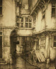 werkplek van Anton Pieck frankfurt, 1929