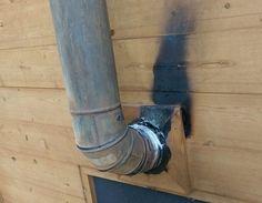 Sauna Wood Stove, Wood Stove Chimney, Diy Wood Stove, Antique Wood Stove, Wood Stove Cooking, Stove Fireplace, How To Antique Wood, Wood Stove Heat Shield, Wood Stove Installation