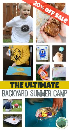 Fun, easy way to entertain the kids this summer. Set up a summer camp in the comfort of your own backyard!