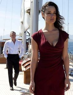 Berenice Marlohe and Daniel Craig in Skyfall.