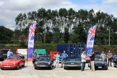 Fabric outdoor feather flags designed and printed for the TVR Car Club
