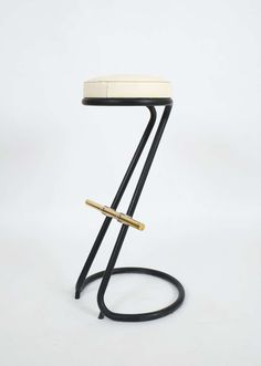 Set Of Four Gastone Rinaldi Bar Stools Italy   From a unique collection of antique and modern stools at http://www.1stdibs.com/furniture/seating/stools/