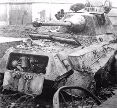Military and Aviation (panzerpinp: Destroyed Puma in Normandy. Army Vehicles, Armored Vehicles, Armored Car, Military Diorama, Military Art, Tank Warfare, D Day Normandy, Germany Ww2, Ww2 Photos