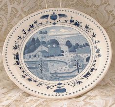 "Nikko Japan Charles Wysocki American America for All Seasons Salad 8 1/4""  Plate #AMCALIncNIKKOJapan"