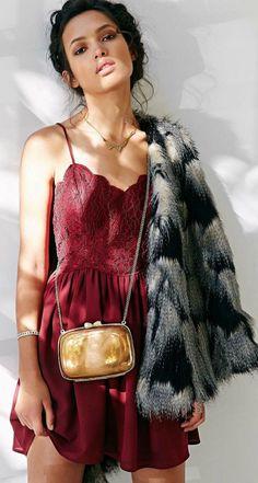 Oxblood Lace Little Dress by LadyAddict