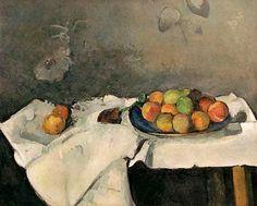 Paul Cézanne - Assiette de pêches - Kunstreproduktionen