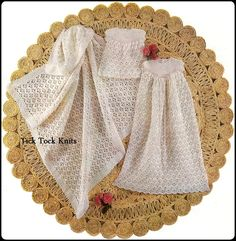 Baby Dress Roupa de Baptizado Xaile. / Baby Dress Christening Gown  Shawl.