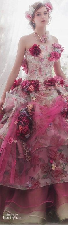 """Skye's dress, full of poof, flowers.... """"Gimme a break, what kind of fairy tale is this?"""""""