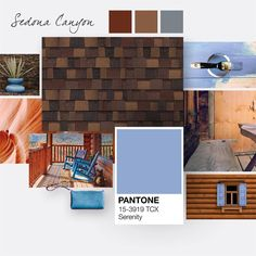 Consider pairing the earthy tones of Sedona Canyon shingles with other colors found in nature, such as blues that resemble the calming comfort of the sky.