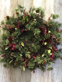 A personal favorite from my Etsy shop https://www.etsy.com/listing/254938899/holiday-wreath-christmas-wreath-winter